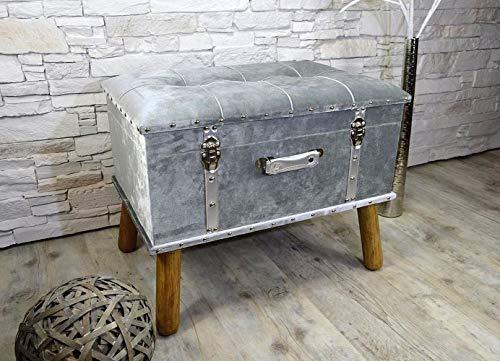 Livitat® Hocker Polsterhocker Suitcase Pouf Truhe Staufach Truhenbank Sitzbank Ottomane LV2083