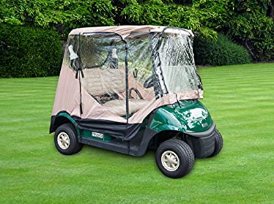 Trademark Innovations Golf Cart Cover Enclosure Protector for 2-Seater or 4-Seater