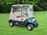 Trademark Innovations 7' Golf Cart Enclosure Cover for 2-Seater, Model:GLFCART-CVR-TAN