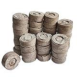 Hotaden Los pellets de turba, Suelo de turba Jiffy Semillas de Arranque Bloque de 30 mm Evitar la raíz del Choque para el Interior del jardín Suculentas Planter 50pcs