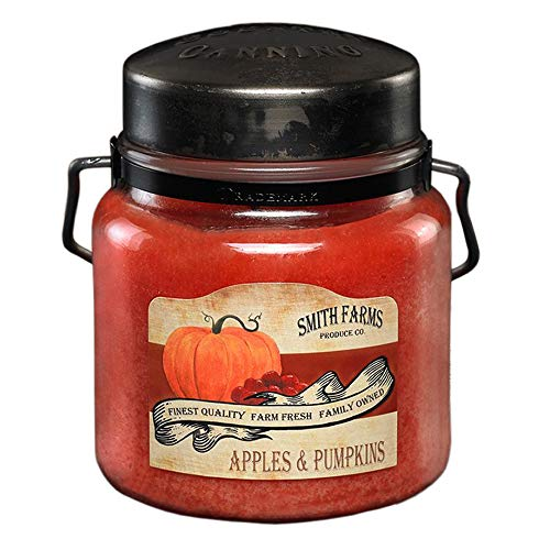 McCalls Candles | Apples and Pumpkins | Highly Scented & Long Lasting | Classic Painted Label | Hand Crafted Metal Lid with Strap and Handle| Premium Wax & Fragrance | Made in The USA | 16 oz