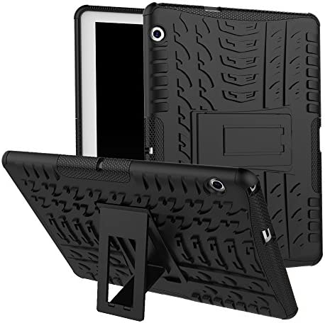 XITODA Huawei MediaPad T3 10 Case, Armor Style Hybrid PC + TPU Protective Case with Stand for Huawei MediaPad T3 10 9.6-Inch Tablet 2017 Release Cover Protection - Black