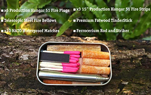 Forest Fundamentals Bushcraft - Kit de iluminación de Bolsillo para Incendios