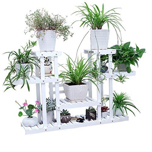 LCHY TtYj-Multifunctional flower stand Flower Pot Rack, Multilayer Flower Racks With Wheel Balcony Landing Wood Shelf Rectangle Multifunction Shelf Flower stand