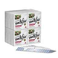 Vanity Fair Everyday Casual Paper Napkins and Napkin Holders, Classic White, 900 Count