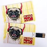 'witziger USB Stick en formato de tarjeta de visita, tarjeta de crédito,...