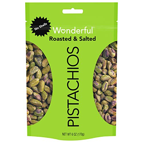 Wonderful Pistachios, No Shell, Roasted and Salted, 6 Ounce