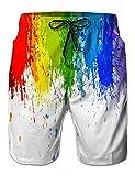 NEWISTAR Uomini Tronchi per la Spiaggia da Uomo di Costume da Bagno con Stampa Corti Pantaloncini Shorts