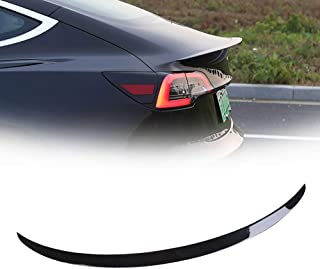 Punch Free 3M Adhesive and Easy Installation QIXI ABS Rear Trunk Top Wing Spoiler for Ford Kuga 2013-2018 ,White Color, Black