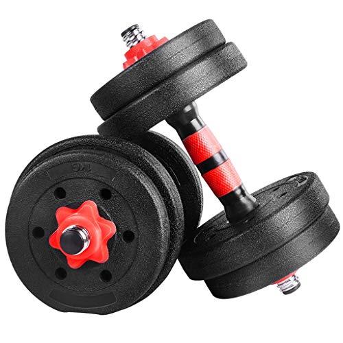 LIULU Abnehmbare Hantel Gewichte Langhantel Kombination Geeignet for Kinder mittleren Alters Männer Training Arm Fitnessgeräte (Größe : 10KG)