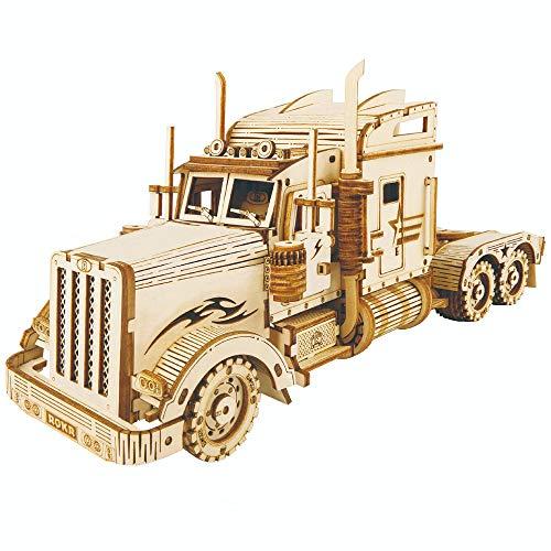 Huijing Oferta Puzzles De Madera 3D, Kits De Modelo De Tren De Construcción 3D Rompecabezas De Madera 308 Piezas De Juguete para Niños Adolescentes camión