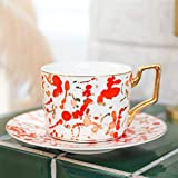 N-B Nordic Ceramic Coffee Cup with Spoon and Saucer Set Creative European Luxury Breakfast Snack Afternoon Tea Tableware Tray Set
