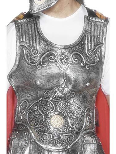 Luxuspiraten - Kostüm Accessoires Zubehör römische Herren Rüstungsbrustplatte Brustpanzer, perfekt für Karneval, Fasching und Fastnacht, Silber