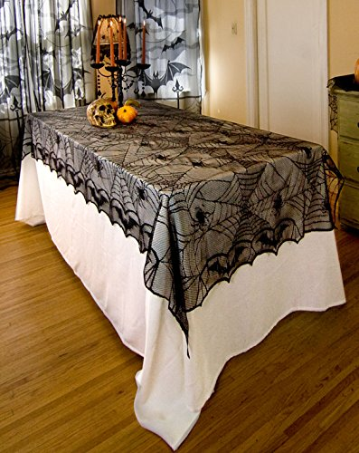ODN Halloween Spinnennetz Tischdecke halbtransparente Horror Büffet Bankett Tafeldeko