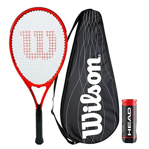 Wilson Pro Staff - Racchetta da tennis di precisione, con copertura per prestazioni e 3 palline da tennis da campionato