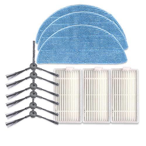 ACHICOO 6 Seitenbürsten +3 Filter + 3 Lappen Reinigungsset für ILIFE V5SPRO V50 V5S
