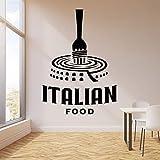 ASFGA Calcomanías de Pared con Logotipo, Puertas y Ventanas de Pasta de Comida Italiana, Pegatinas de Vinilo, Papel Tapiz de decoración de Interiores de Cocina de Restaurante Italiano