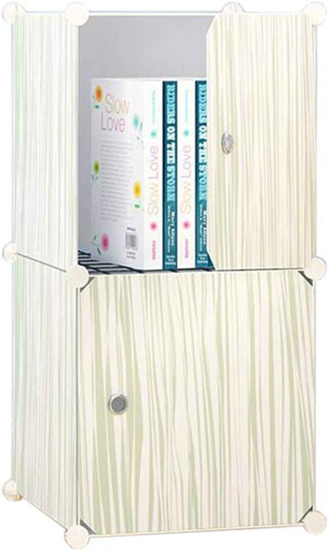 JCAFA Shelves Book Shelf Assembly Bookcase Free Combination Storage Cabinet Floor Cabinet Single Load Bearing 20kg (color   Wood Grain, Size   14.56  14.56  29.52in)