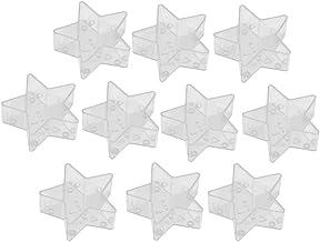 F Fityle Bougie Chauffe-plat En Plastique Transparent pour La Décoration de La Maison Des Centres de Mariage - Forme d'éto...