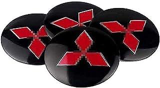 4Pièces Voiture Cache Moyeux pour Mitsubishi ASX, Étanche et Anti-poussière Capuchons de Moyeu Avec Logo DéCoration Access...