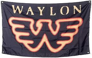 Waylon Jennings Flying W Poster Flag