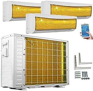 A + +/A + +/A + + Trio Split WiFi/WiFi Golden de fin 9000+ 9000+ 9000hasta 12000+ 12000+ 12000BTU multisplit Aire Acondicionado Inverter Aire Acondicionado y calefacción, Blanco, 230.00V
