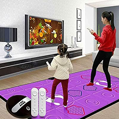 QIENON Double 3D Somatosensory Game Console Dance mats, Support All TV and USB Connections, Silicone Massage, Electronic Dance Mats Best Gift for Boys Girls Kids 113 by QIENON