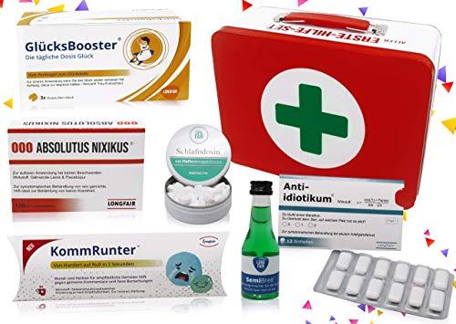Regalo de cumpleaños, set de primeros auxilios, caja de regalo, divertida caja de pánico, regalo original Cumpleaños neutrales.