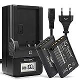 CELLONIC 2X Batería de Repuesto Acc-TRBX per Sony RX100 III IV V FDR-X3000 DSC-RX100 DSC-HX60 -HX400V -HX90V -HX80 -H400 DSC-WX50, 1090mAh + Cargador NP-BX1, Accu Sustitución Camara, Battery