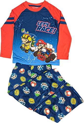 Nintendo Super Mario 2-Piece Long Sleeve Long Pant Pajama Set (Little Boy & Big Boy)