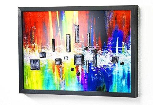 Cadre mural en verre avec cadre Multicolore