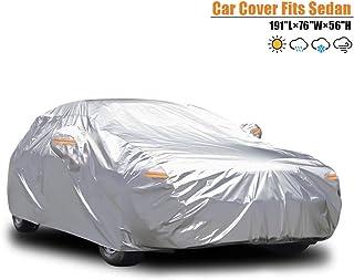 69a80621d76 Carbaba - Funda Impermeable para Coche Sedan – Resistente al Viento/al  Polvo/a