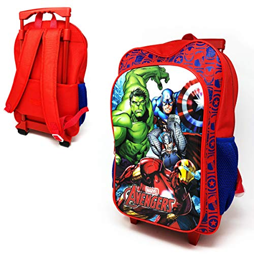 New Children's Character Deluxe Wheeled Trolley Suitcase-Back Pack, Travel Bag, School Bag (Avengers)
