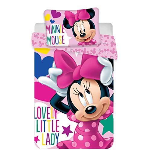 Jerry Fabrics - Set di Biancheria da Letto Disney per Bambini, in Cotone, Multicolore,...