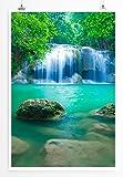 EAU ZONE Home Bild - Landschaft Natur – Erawan Wasserfall