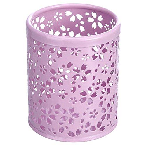 Demarkt Ciselé Pot à Crayons Etui à Stylo en Métal avec Style de Rangements pour Produits Cosmetiques/Boite de Maquillage/Organisateur Cosmetiques