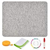 17x13.58 Inches Wool Pressing Mat for Quilting Ironing Pad Easy Press Wooly Felted Iron Board for Retains Heat, Great for Ironing, Quilting, Sewing or Making DIY Embroidery Projects