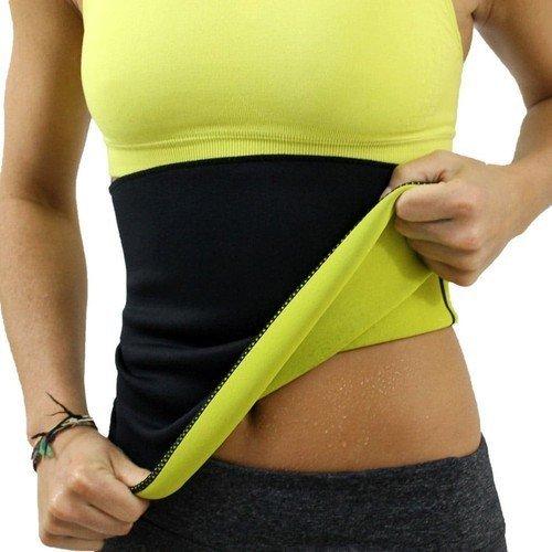 sai Unisex Hot Slimming Belt, XL, XXL, 30-34 (Black and Yellow, Abc -1234)