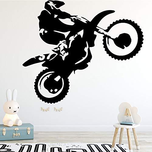troll muurstickers voor meisjes bier, motorfiets stunt driver muurstickers moderne mode muurstickers home decoraties wonen roo64x78cm