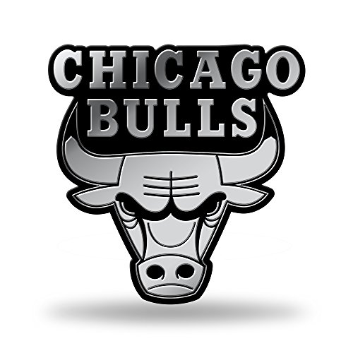 Rico Industries NBA geformtes Auto-Emblem, NBA Chicago Bulls geformtes Auto-Emblem, MEM72001, Teamfarbe, 3 x 3.5-inches