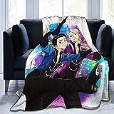 KEDFGUI Mantas para Cama Yuri On Ice Decorative Bed For Sofá de Franela de Microfibra Suave y Acogedor Sillas Cama Ligero cálido