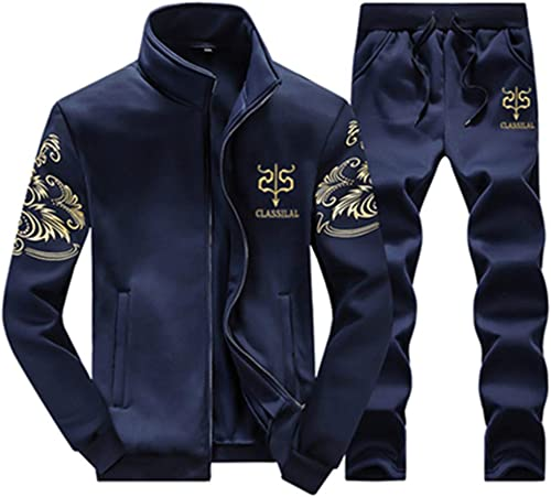 WYX SurvêteHommests Sweatshirt Hommes 2019 Gymnases Printemps Veste + Pantalon SurvêteHommest SurvêteHommest Homme Sportswear Fitness,bleu,L