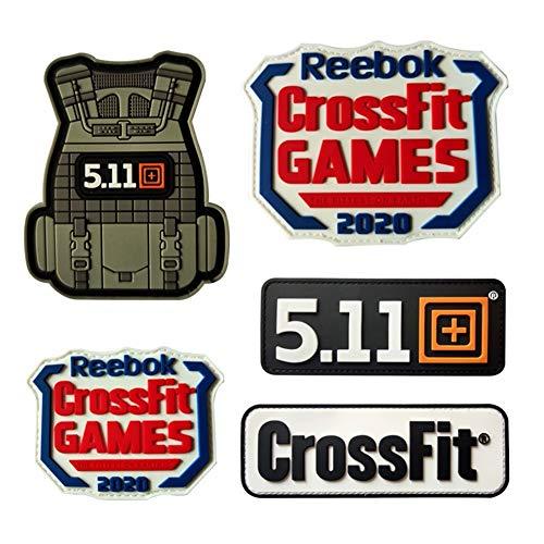 WBNCUAP 3D Chaleco táctico Crossfit 511 Deporte Ejército PVC Velcro Parches Brazalete...