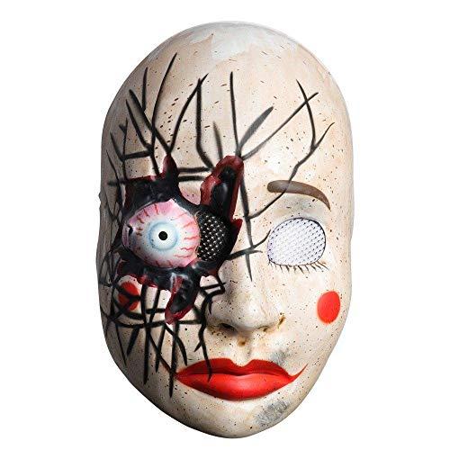XWYWP Mscara de Halloween Joker Mscara de mujer vestido de horror payaso mscara de miedo fantasma PVC realistas accesorios para disfraz de fantasa estndar de fiesta