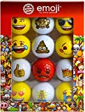 Emoji Lot de 12 balles de Golf Amusantes