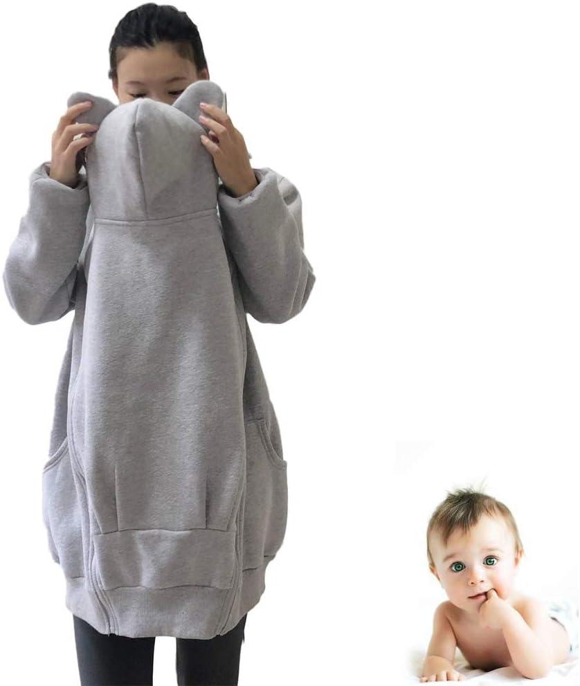 Kangaroo Clothes Multifunction Soft Comfortable Multi-Function Kangaroo Childcare Baby Carrier Hoodie Jacket Womens Maternity Kangaroo Hooded Sweatshirt