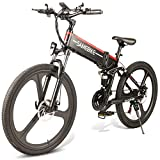 Dušial Folding Electric Bike Bicycle 26 Inch 350W Brushless Motor 48V E-Bike Portable for Adults and Teens Outdoor Cycle