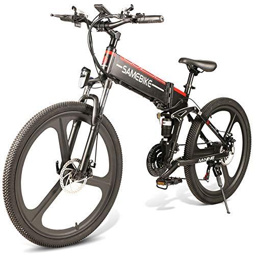 JsJr-K-In Bicicleta Eléctrica Plegable Plegable Bicicleta de Montaña Eléctrica Plegable 26