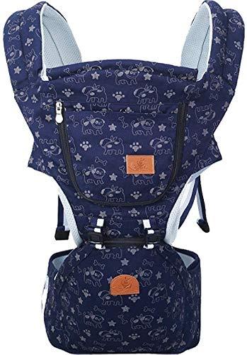 NOBRAND Portabebés avanzado, portabebés transpirable, asiento ergonómico para bebé, suave y cómodo, puro algodón puro, transpirable, multiposición: respaldo, abdomen, ajustable