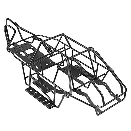 Jadpes RC Car Model Roll Cage Chassis Frame,Black DIY RC Steel Frame Car Roll Cage Tube Metal Body Chassis Frame for Axial SCX10II AX90046 1/10 Scale RC Crawler Car